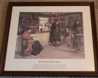 374 - Ye Olde Druggist Shoppe print 18 1/2 x 21