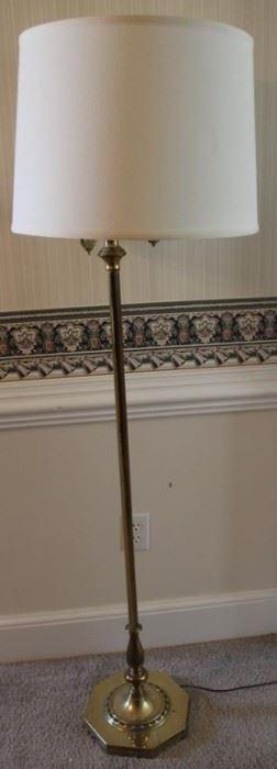 "376 - Brass floor lamp - 61"" tall"