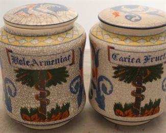 "377 - Pair apothecary jars 6 1/2"" tall"