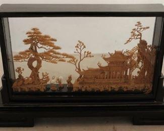 380 - Chinese cork art 13 x 8