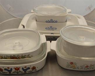 422 - 8 Corning baking dishes