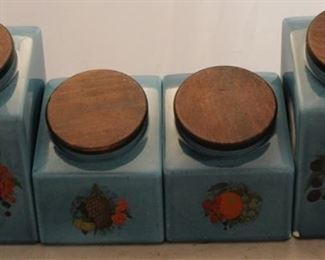 428 - 4 Pc art pottery canister set