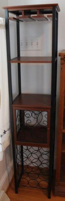 434 - Wood & metal bar shelf 59 1/2 x 13 x 12