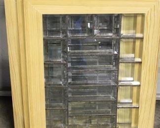 455 - 5 Leaded glass windows 15 1/2 x 22