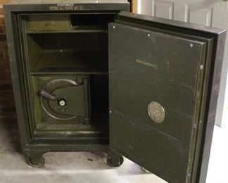 457 - Antique J J Newberry Co safe w/ combination, but no combination for small safe inside 42 x 26 x 26