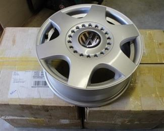 "462 - 4 Volkswagon 16"" metal wheels new in boxes"