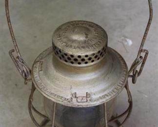 """481 - Vintage railroad lantern 16"""" tall"""