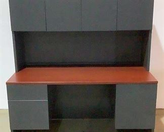 """Located in: Chattanooga, TN Desk With Hutch Size (WDH) 59""""W x 30""""D x 64-1/2""""H *No Key* **Sold as is Where is**  SKU: C-10-1-L"""