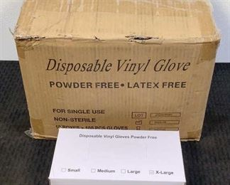 Located in: Chattanooga, TN MFG Med Pride XL Vinyl Gloves Size X-Large 100 Per Box Powder Free- Latex Free *Sold As Is Where Is*  SKU: V-6-B