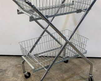 """Located in: Chattanooga, TN MFG Brewer Collapsible Basket Cart Size (WDH) 29""""Wx19-1/2""""Dx37""""H **Sold as is Where is**"""