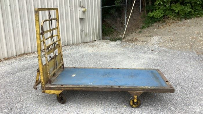 """Located in: Chattanooga, TN MFG Accumu-Cart Rolling Cart Size (WDH) 86""""Wx42""""Dx65""""H **Sold As Is Where Is**"""