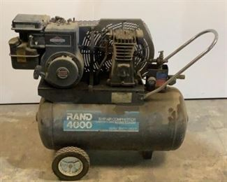 Buyer Premium 10% BP Ser# DC89173-15111-0083 MFG Ingersoll-Rand Model RA5620A Rating 5 HP 20 Gallon Air Compressor Located in: Chattanooga, TN Unable to Test Briggs&Stratton Gas Powered Motor *Per Consignor Does Not Work* **Sold As Is Where Is**  SKU: C-10-1-M