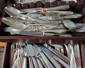 Various sterling silver flatware pieces
