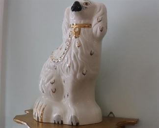 English Beswick Staffordshire White Spaniel Fox Hound Mantle Dogs
