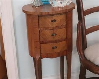 A Beautiful pair of Antique French 3 Drawer Side Tables