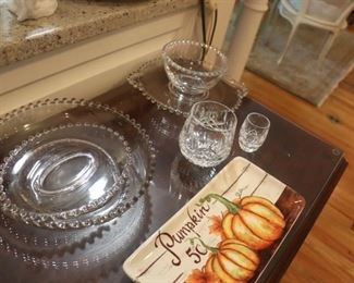Imperial Clear Glass  Candlewick Pattern