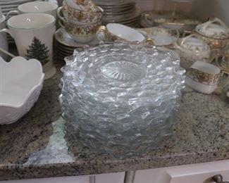 Fostoria Vintage Clear Depression Glass Cube pattern