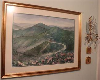Watercolor Painting by Elizabeth Ellison. Blue Ridge Parkway