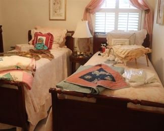 Twin Mahogany Beds