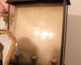 vintage lithophane lamp box