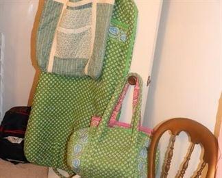 Vera Bradley hanging bag and duffle