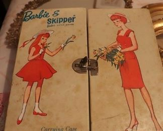 Vintage Ken & Barbie Case Dolls and Clothes