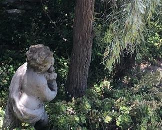 Pair of Concrete Cherubs in the garden - you must be strong to bring them up from the garden - ask to see