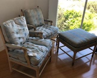 Gripsholm chairs and ottoman