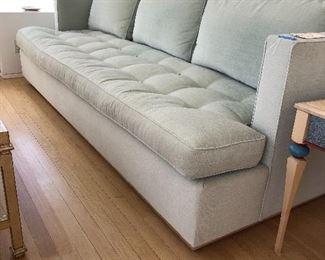 Custom Wood and feather sofa