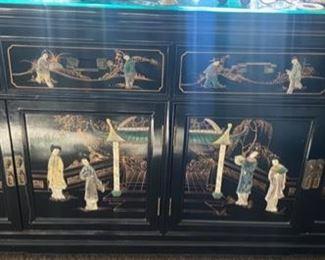 Hardstone black cabinet