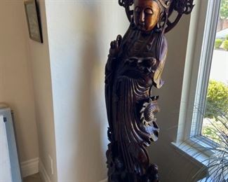 Life Size!! carved wood  beauty