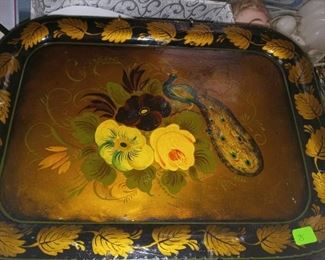 Small French tole ware tray 70.00