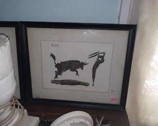2 Picasso silhouettes. Pair is 400.00