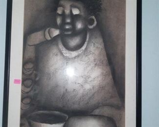 African Artwork charole  paper 500.00