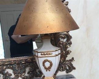 Decorative Gold & White Lamp