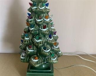 Antique Light up Christmas Tree