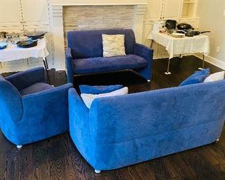 LEOLUX 3 Piece Room Setting; Sofa, Loveseat & Chair.