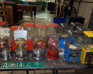 Antique gum machines