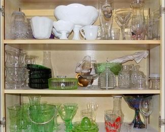 Depression Glass and Collectible Kitchen Goods