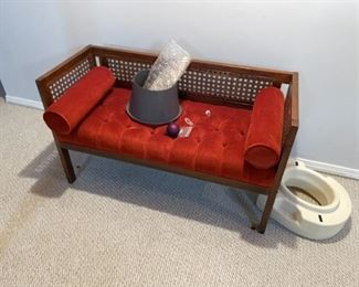 . . . love this piece!  a mid-century love seat