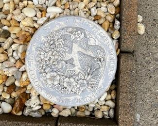 . . . a yard plaque