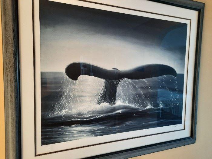 """Original signed Wyland 4/450 framed size 43"""" x 36"""""""