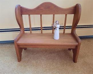 ...decorative child size bench...
