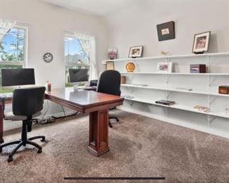 T shaped custom made desk