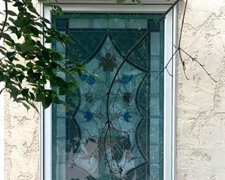 Exterior view of the stained glass window
