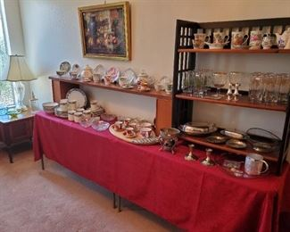 China, crystal, silver, teacups, etc.