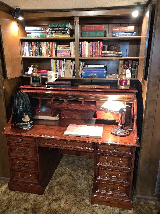 """""""hinged"""" roll top desk"""