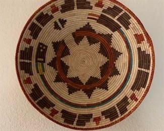 """Navajo wedding basket, 13"""""""