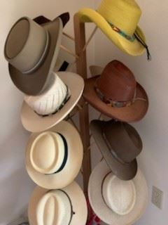 Hats/hatbands, including Stetsons