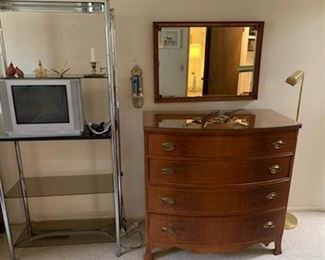 (2) vintage Federal style chests of drawers